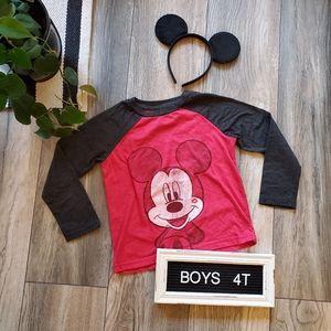 Boys Mickey Mouse Baseball T | Raglan, Valentine's